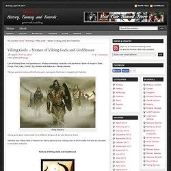Dieux Viking - Noms des Dieux et Déesses: Viking blog épée
