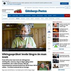 Vikingaspråket levde längre än man trott