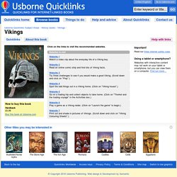 """Vikings"" in Usborne Quicklinks"