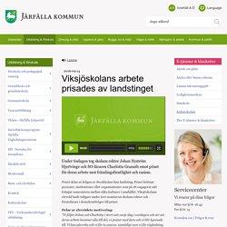 Viksjöskolans arbete prisades av landstinget - Järfälla kommun