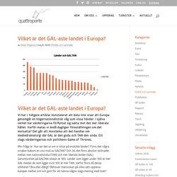 Vilket är det GAL-aste landet i Europa? - Quattroporte