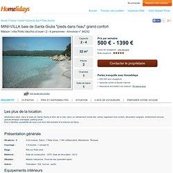 """MINI-VILLA baie de Santa Giulia """"pieds dans l'eau"""" grand confort - Annonce n° 44232"""