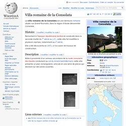 Villa romaine de la Consolata
