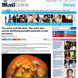 Artist Ray Villafane carves pumpkin portraits in just two hours | Mail Online