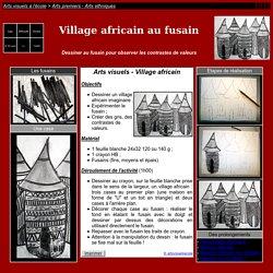 village africain au fusain