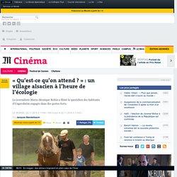 «Qu'est-ce qu'on attend?»: un village alsacien à l'heure de l'écologie