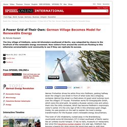 A Power Grid of Their Own: German Village Becomes Model for Renewable Energy