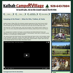 Kaibab Camper Village - Grand Canyon North Rim area camping at Jacob Lake, Arizona