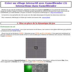 Créer un village interactif avec GameBlender (1)