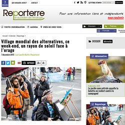 Village mondial des alternatives, ce week-end, un rayon de soleil face à l'orage