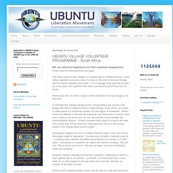 UBUNTU VILLAGE VOLUNTEER PROGRAMME - South Africa