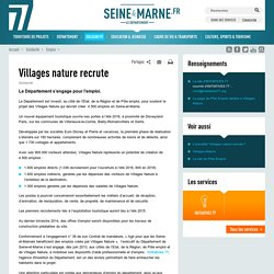 Villages nature recrute
