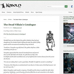 The Dead Villain's Catalogue / Kobold Quarterly