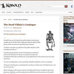 The Dead Villain's Catalogue / Kobold Quarterly