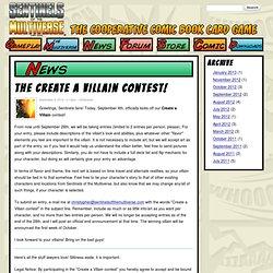 The Create a Villain Contest!