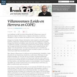 Villanovenses (Leído en Herrera en COPE)