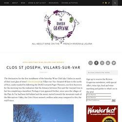 Clos St Joseph, Villars-sur-Var - The Riviera GrapevineThe Riviera Grapevine