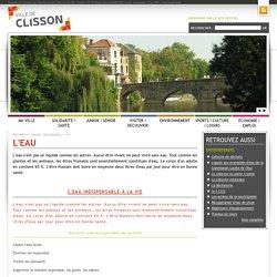 Ville de Clisson (44) - Environnement : L'eau