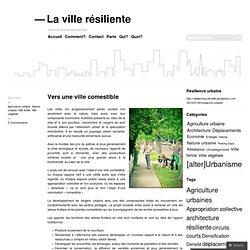 Vers une ville comestible « La ville résiliente