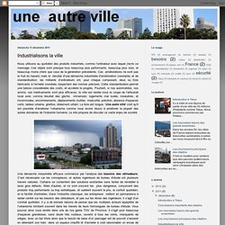 Industrialisons la ville
