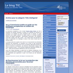 Ville intelligente - Le blog TIC