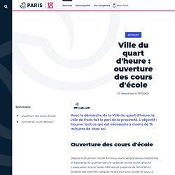 Ville du quart d'heure: ouverture des cours d'école - Mairie du 18ᵉ