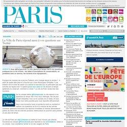 La Ville de Paris r�pond aussi � vos questions sur Twitter