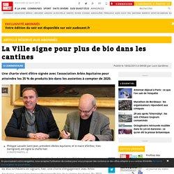 SUD OUEST 18/02/15 ORTHEZ : La Ville signe pour plus de bio dans les cantines