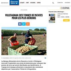 CHARENTE LIBRE 24/09/20 VILLEFAGNAN: DES TONNES DE PATATES POUR LES PLUS DÉMUNIS