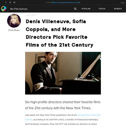 Denis Villeneuve, Sofia Coppola, and More Directors Pick Favorite Films of the 21st Century