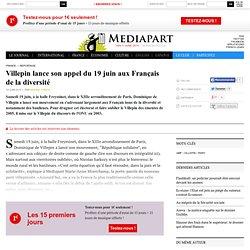 Villepin lance son appel du 19 juin aux Français de la diversité