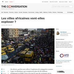 Les villes africaines vont-elles exploser?
