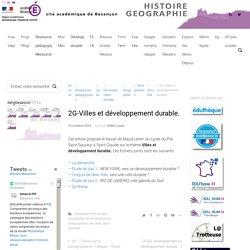 2G-Villes et développement durable.