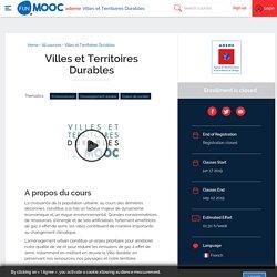 MOOC Villes et Territoires Durables