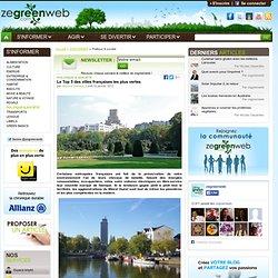 Le Top 5 des villes françaises les plus vertes