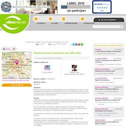 Villes Internet>Chasse au trésor numérique avec QR codes