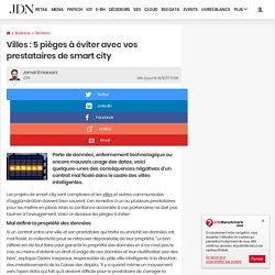 Villes: 5pièges à éviter avec vos prestataires de smart city