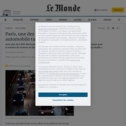 Paris, une des villes où la pollution automobile tue le plus en Europe