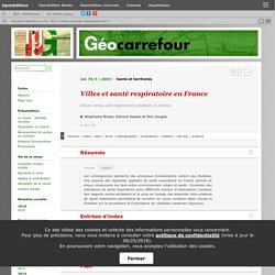 Villes et santé respiratoire en France