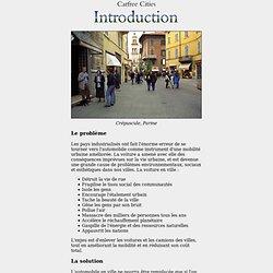 Villes sans voitures : Introduction