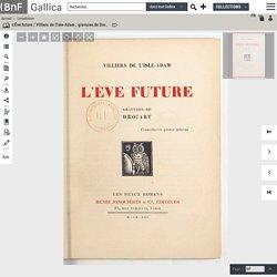 L'Ève future / Villiers de l'Isle-Adam ; gravures de Drouart