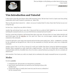 Vim Introduction and Tutorial - IMHO