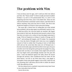 vim-problems