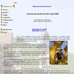 20ALSACE - AVRIL 2006 - Réchauffement climatique : Quel avenir pour la viticulture ?