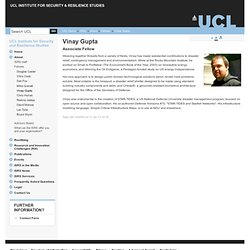 UCL Institute for Security and Resilience Studies