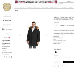 VINCE CAMUTO HOODED DOWN SNORKEL COAT - Vince Camuto