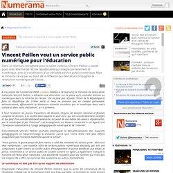 Vincent Peillon veut un service public numérique pour l'éducation