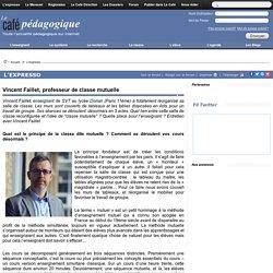 Vincent Faillet, professeur de classe mutuelle