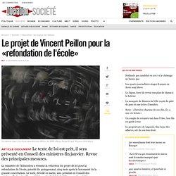 Le projet de Vincent Peillon pour la «refondation de l'école»