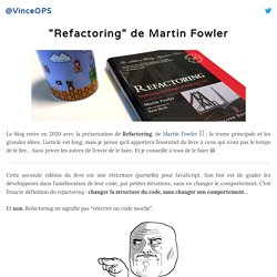 """Refactoring"" de Martin Fowler"